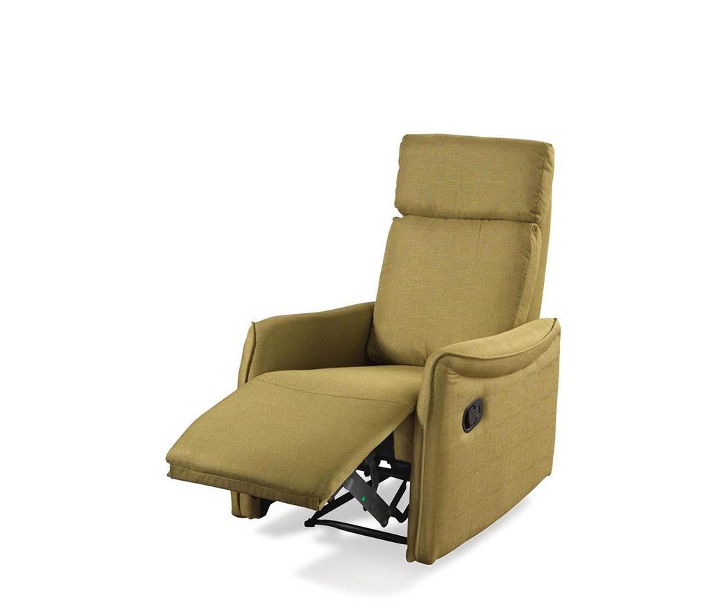 Poltrona relax reclinabile manualmente michela tessuto verde duzzle