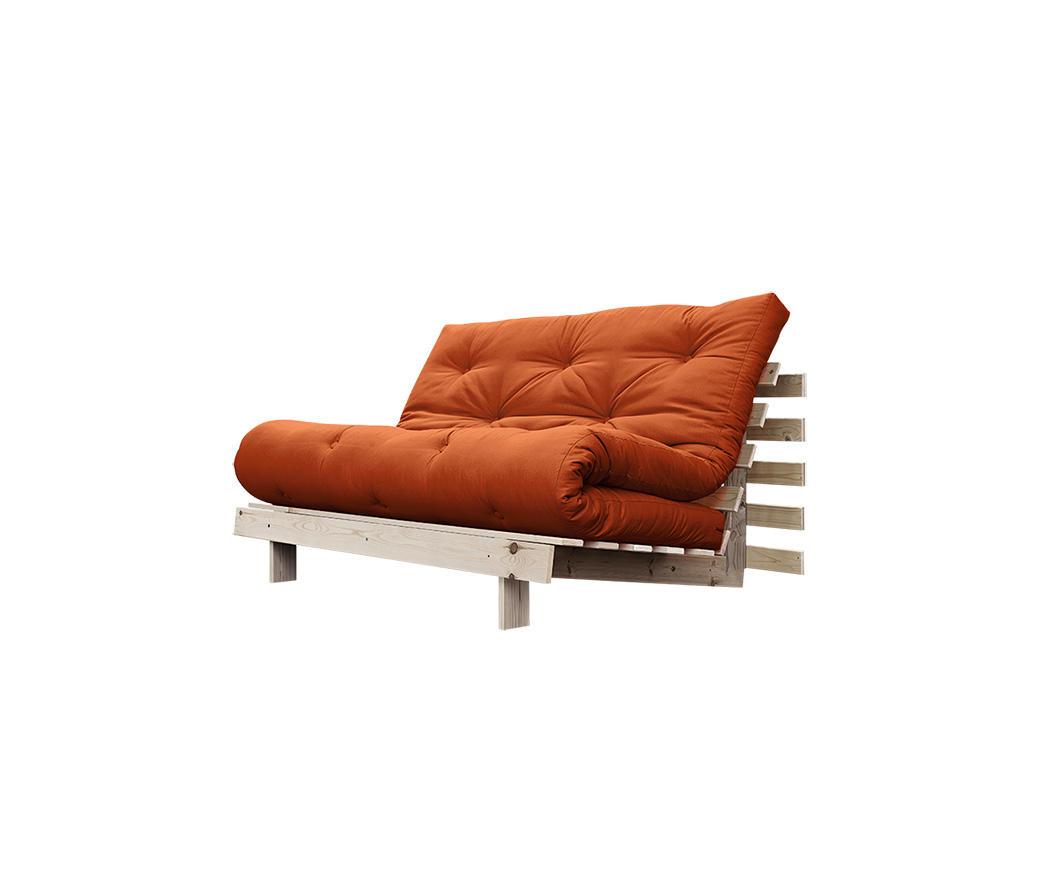 Divano letto roots 140 cm karup arancione struttura natural duzzle - Divano arancione ...