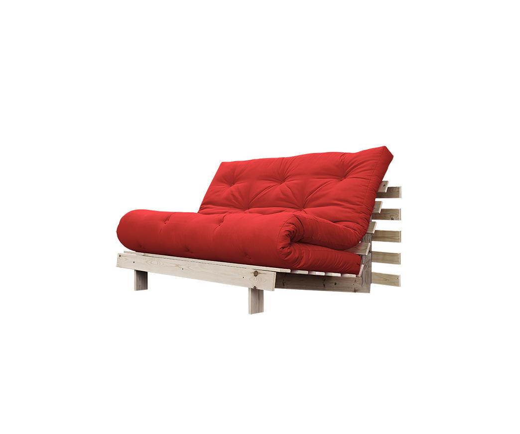 Divano letto roots 140 cm karup rosso duzzle - Divano letto angolare rosso ...