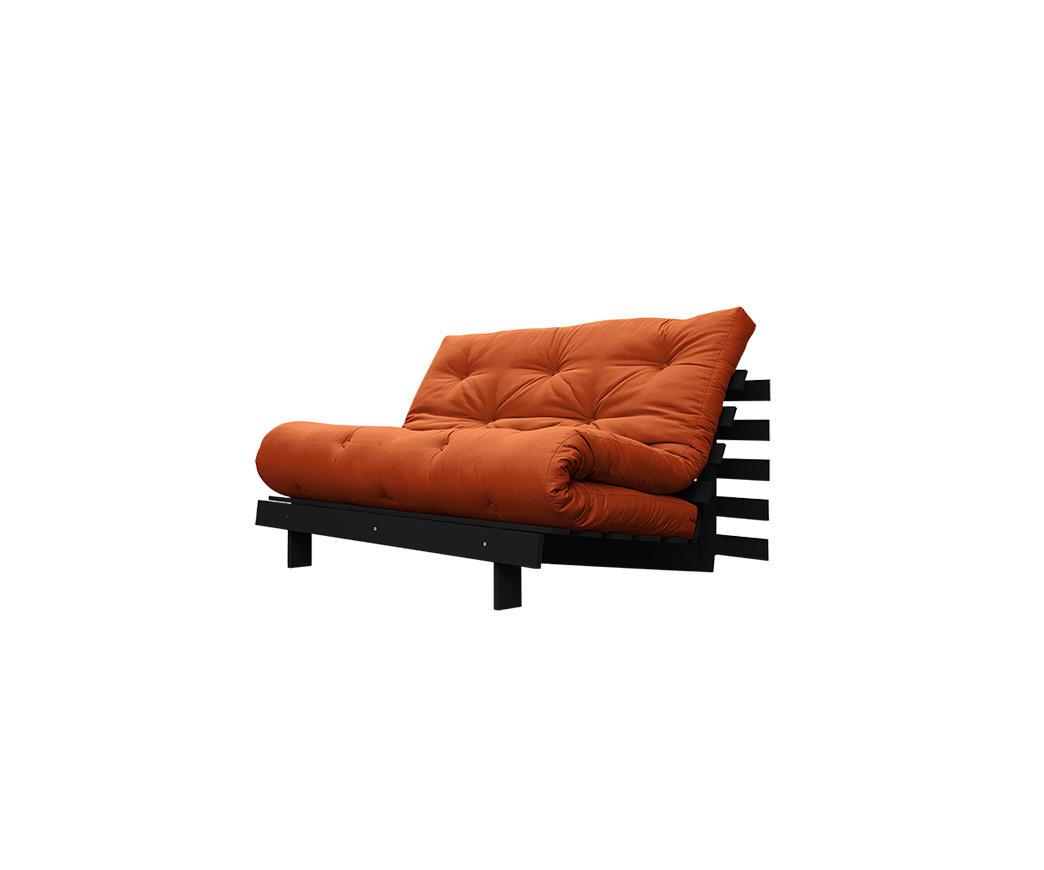Divano Letto Roots 140 cm Karup arancione struttura wengé | Duzzle