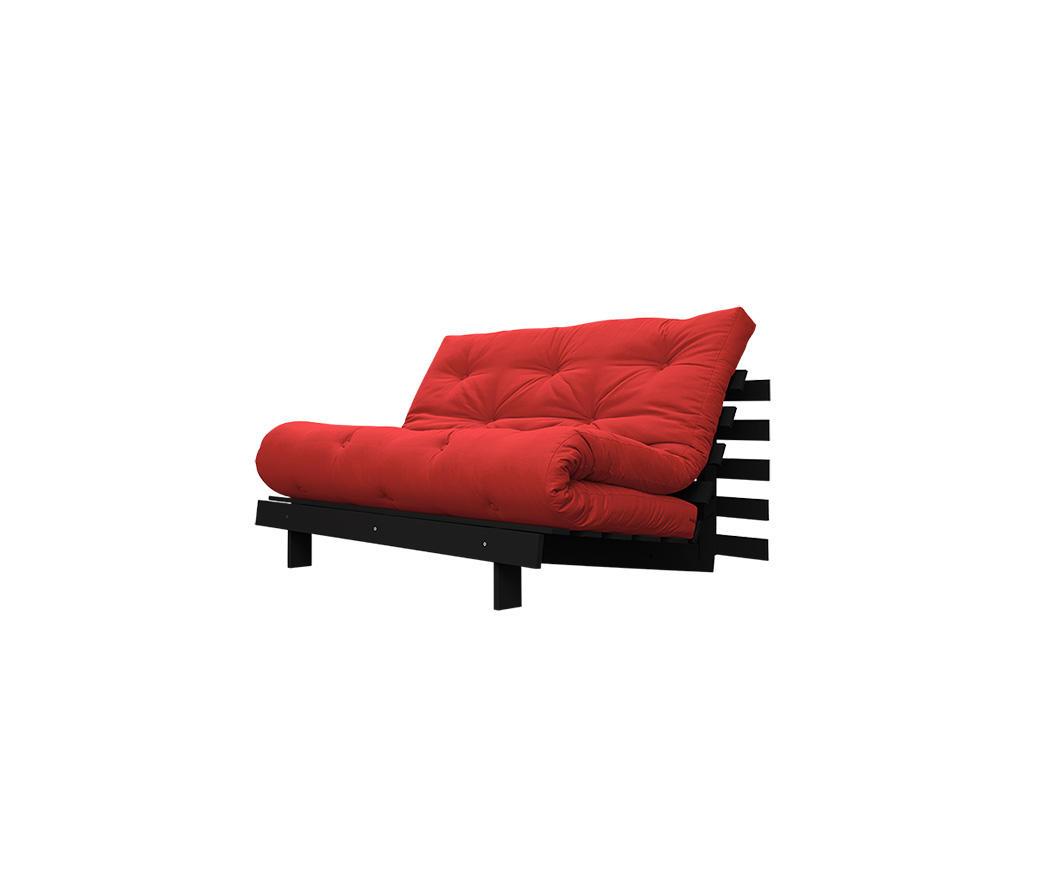 Divano letto roots 140 cm karup rosso struttura weng duzzle - Divano letto larghezza 140 cm ...