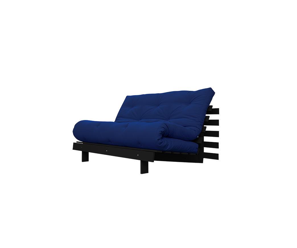 Divano Letto Roots 140 cm Karup Royal Blu struttura wengé | Duzzle