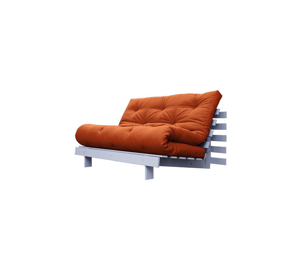 Divano letto roots cm karup arancione struttura grigio chiaro