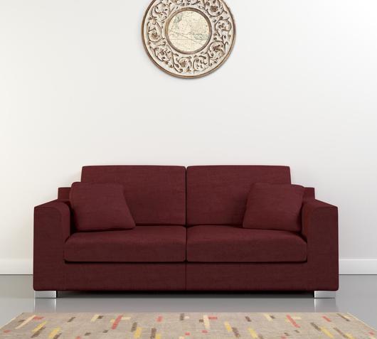 Duzzle offerta divani due posti tessuto colore bordeaux sirena