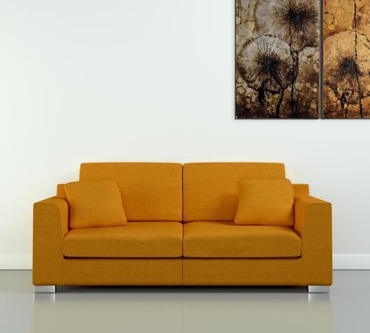 Duzzle offerta divani due posti tessuto colore senape sirena