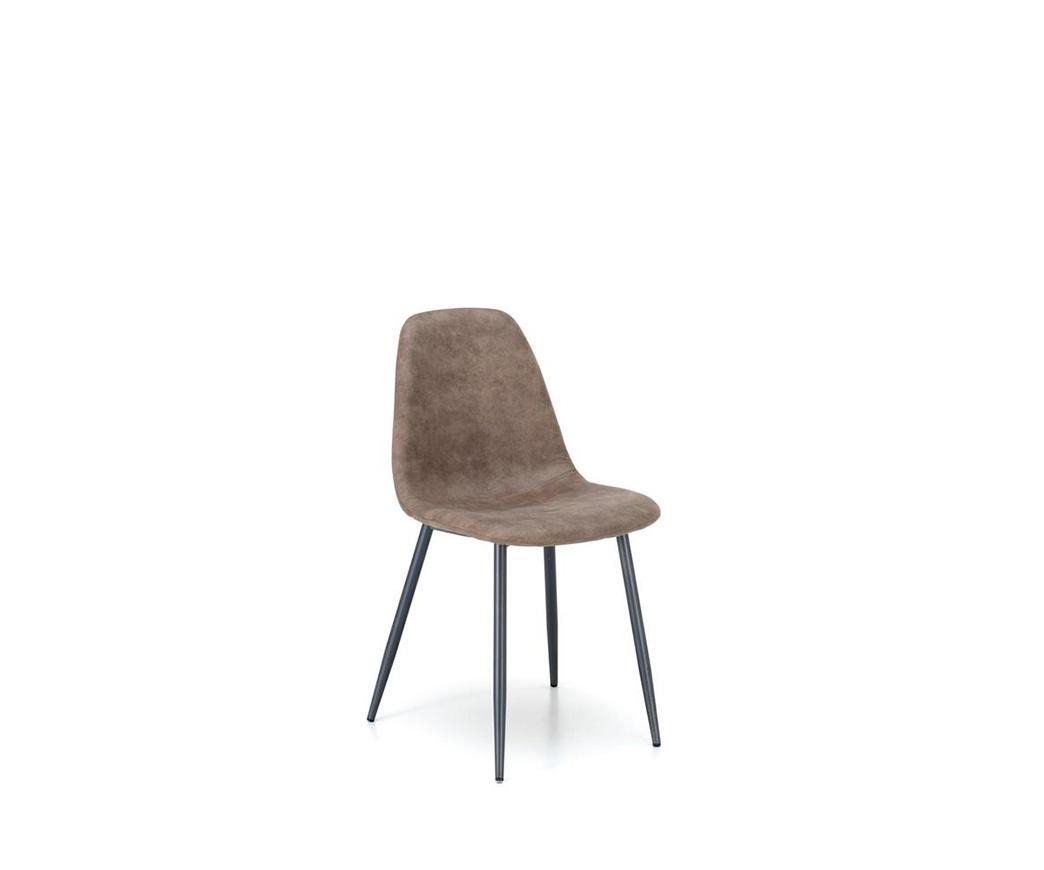 Sedie In Metallo Vintage : Sedia brigitte in similpelle vintage tortora di stones om to