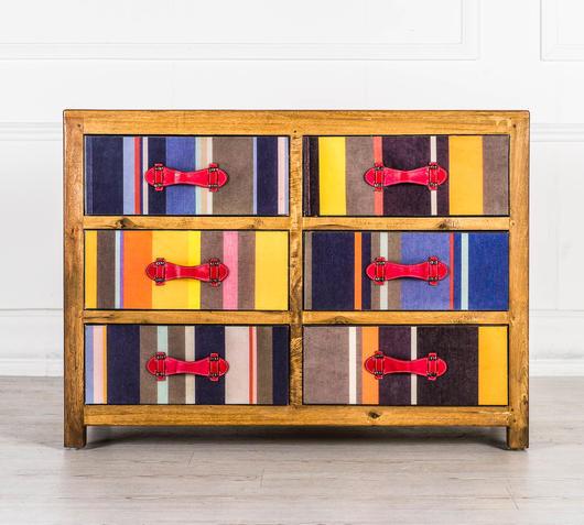 Duzzle mobiletto colorato legno massello design twist frontale