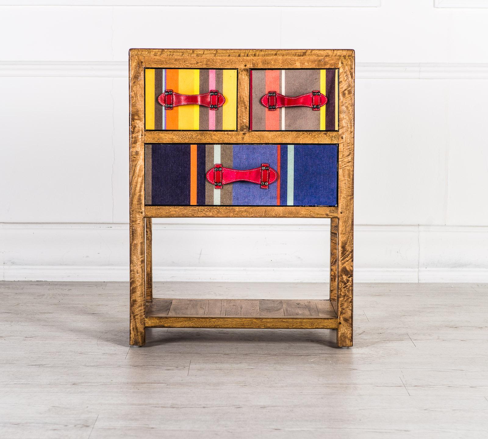 Mobiletto colour in legno massello duzzle - Mobiletti in vetro ...