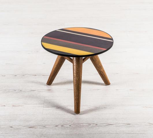 Duzzle tavolinetto rotondo soggiorno design twist top colorato