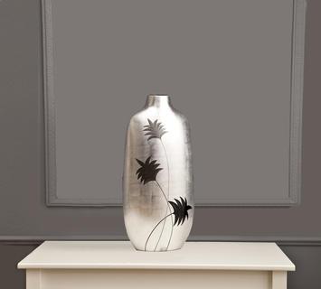 Duzzle vaso da ornamento argento flow fusion design