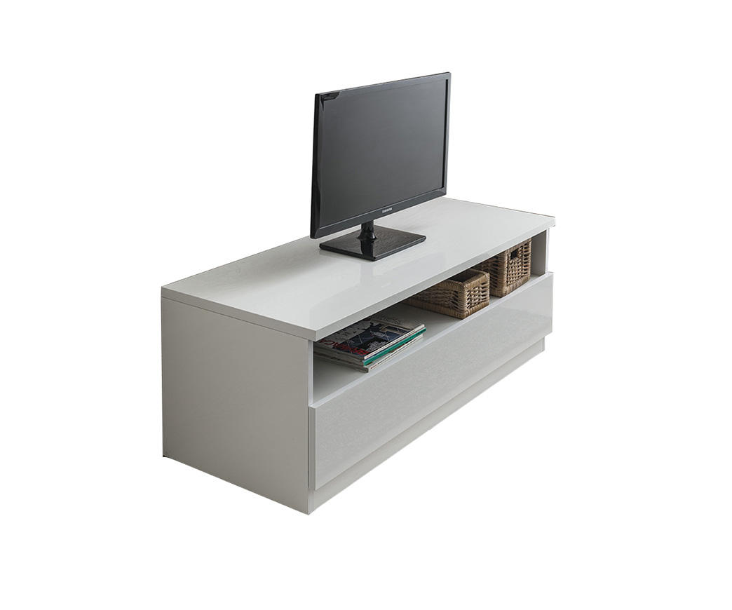 Mobile Tv Bianco Lucido.Porta Tv Jolly Larice Bianco