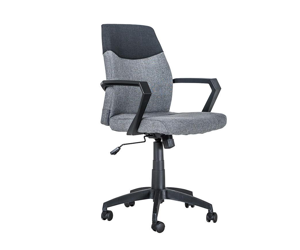 Poltrona da ufficio con rotelle dustin nera e grigia om ng di