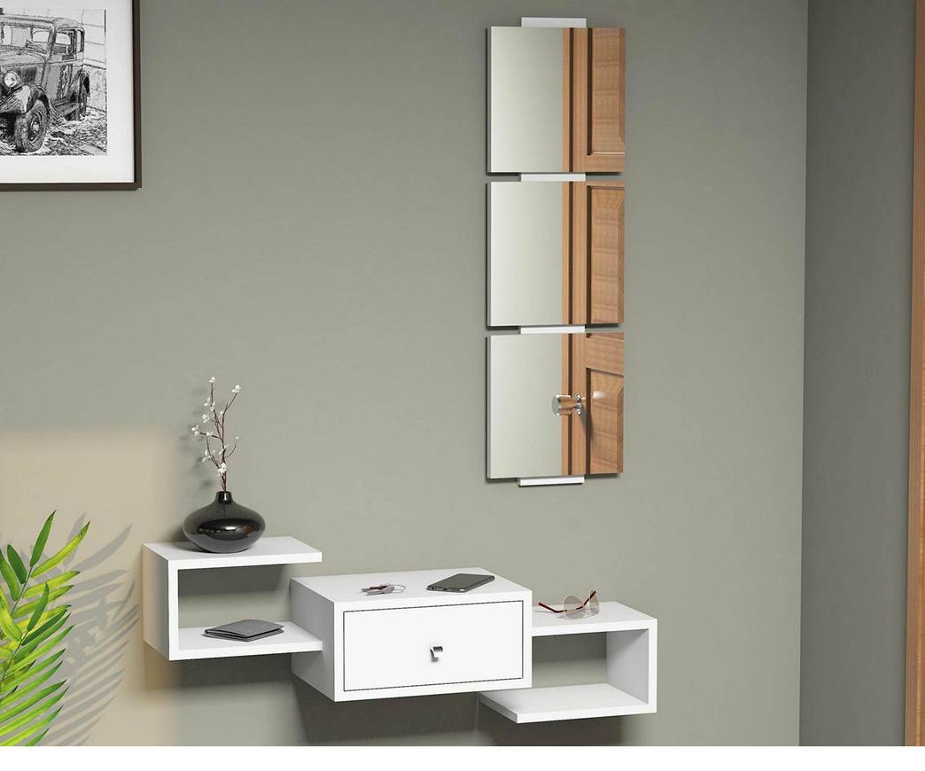 Mobile Ingresso Sospeso Dorado bianco con specchio