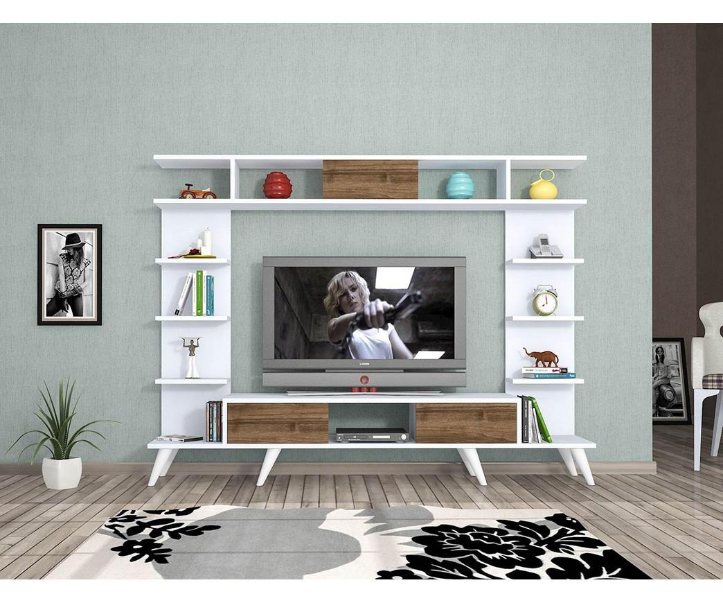 Mobile Porta TV Pan Bianco e Rovere