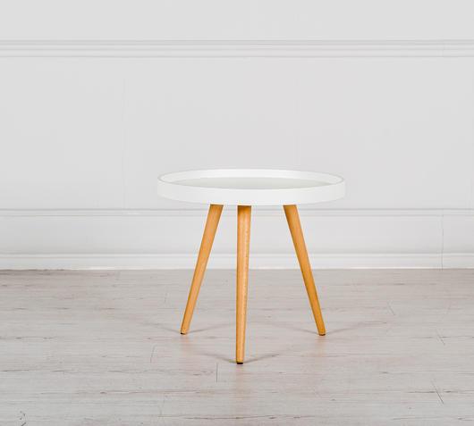 Duzzle tavolinetto piccolo in mdf colore bianco combinazione frontale