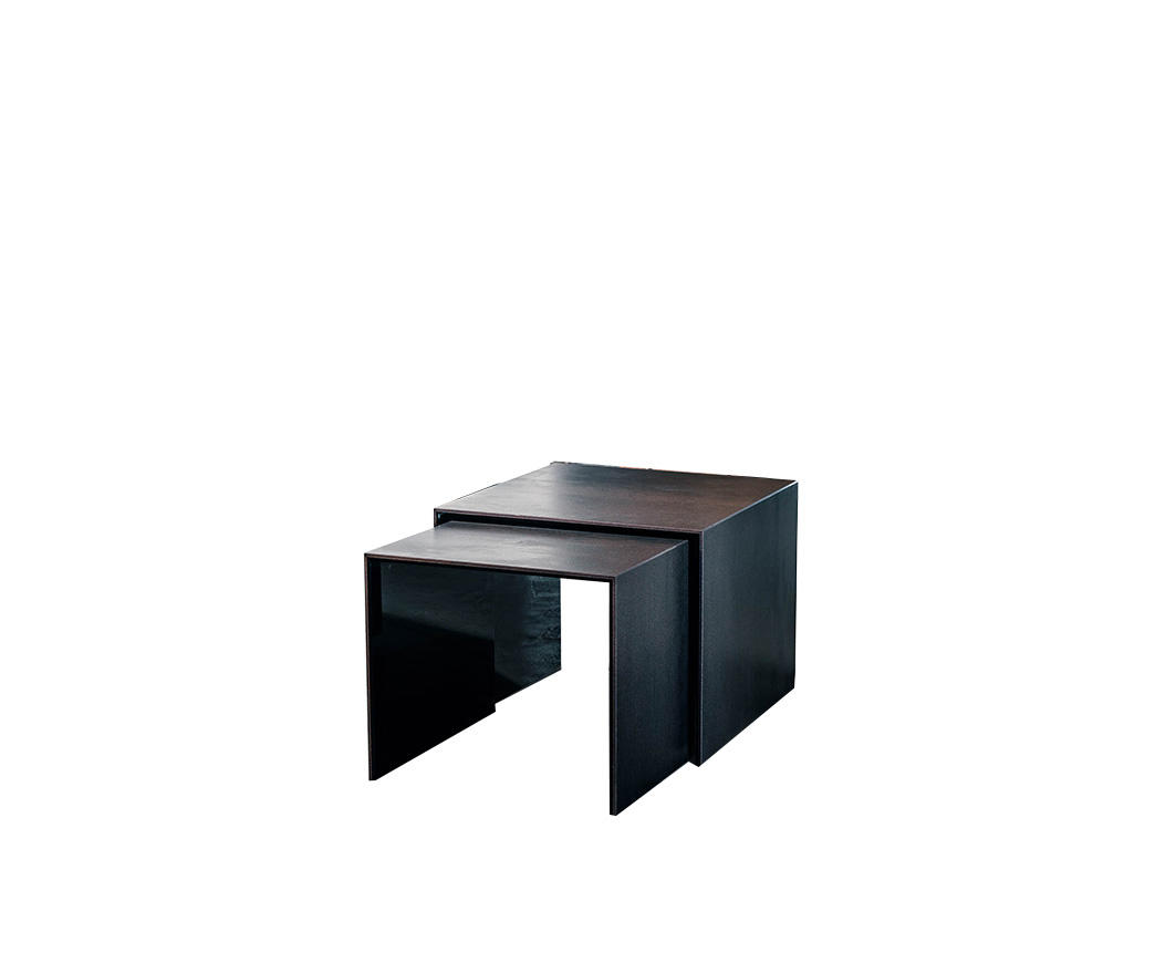 Tavolino Ponte Vetro.Doppio Tavolino In Ceramica E Vetro Kansas