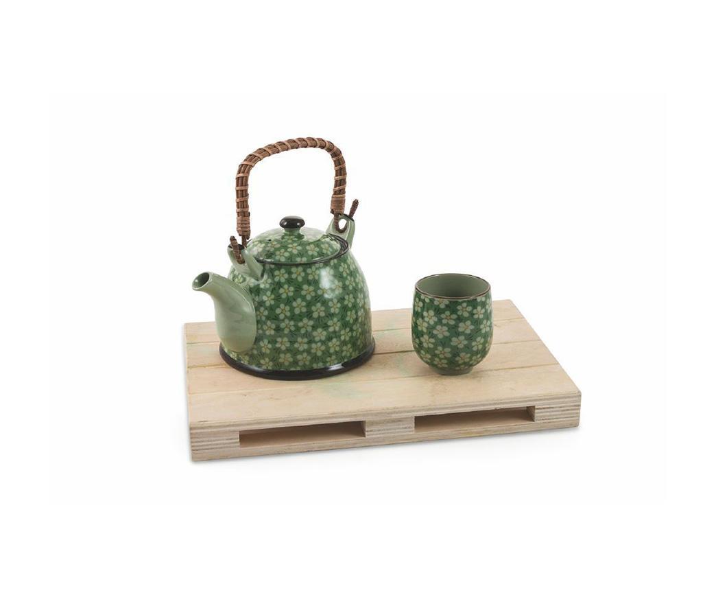 Credenza Con Tazze : Set teiera japan con tazze in gres duzzle