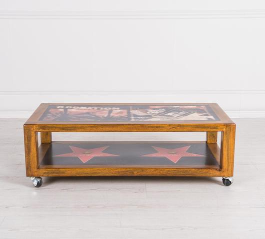 Duzzle mobiletto tv legno massello design twist alto
