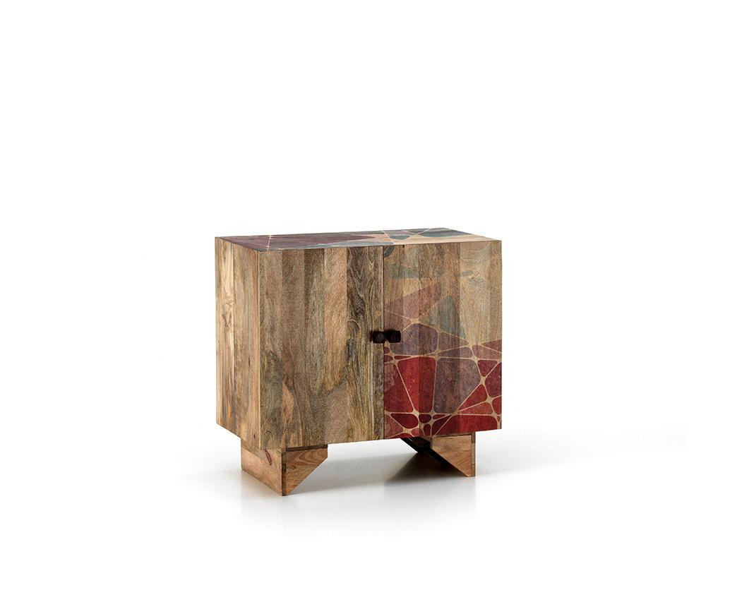 Mobiletto etnico Rakhi in legno di mango ET-080