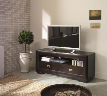 Duzzle mobile porta televisione in legno di betulla a zig zag ec026