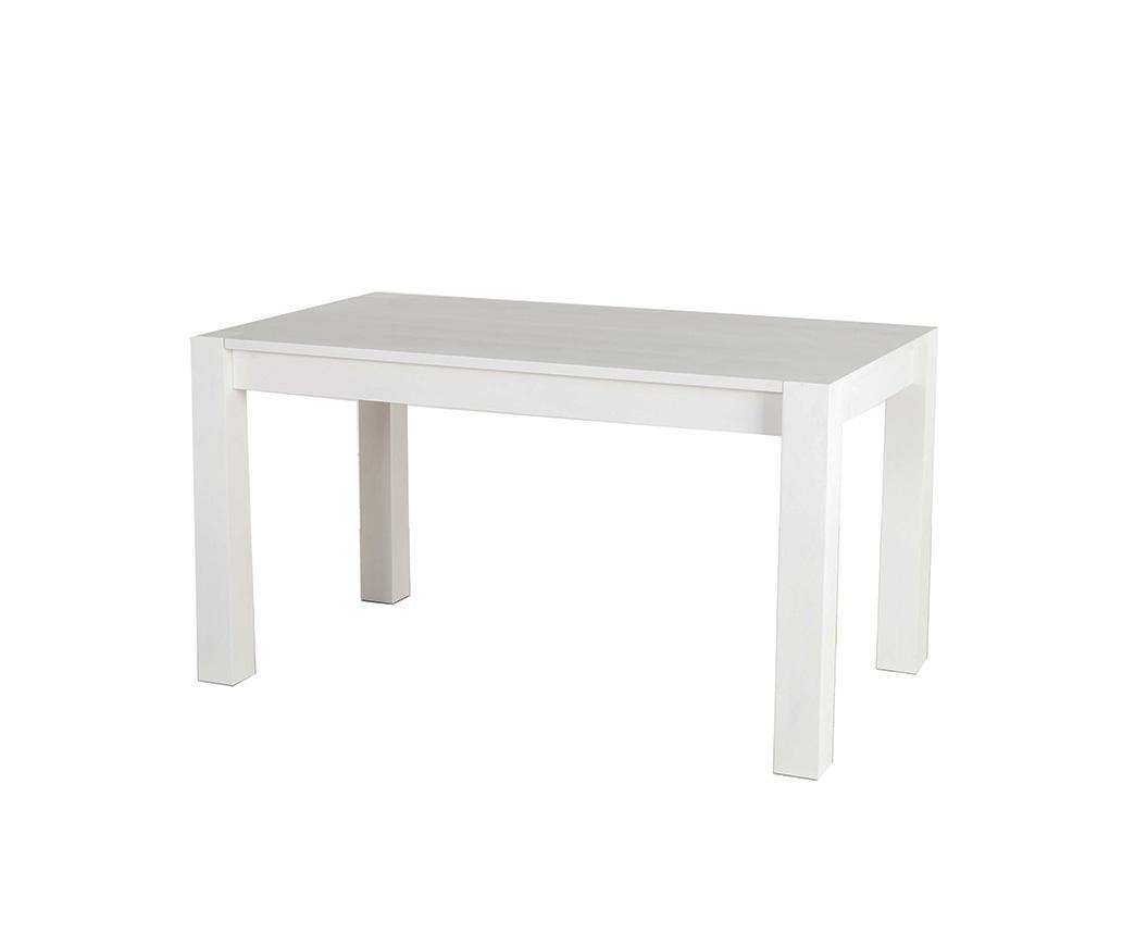 Tavolo In Legno Allungabile Bianco.Tavolo Allungabile Enea Finitura Rovere Bianco Fino A 190 Cm