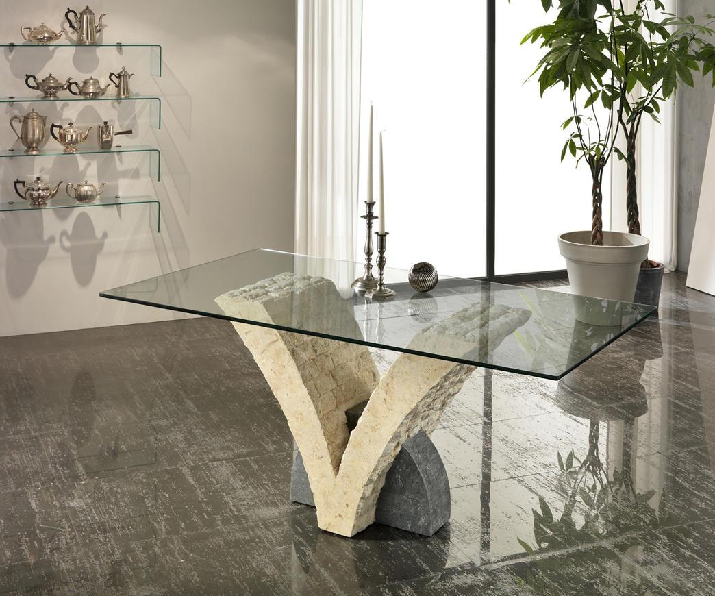 Tavolo papillon in pietra bianca e grigia top 180 cm duzzle - Tavolo giardino legno offerte ...