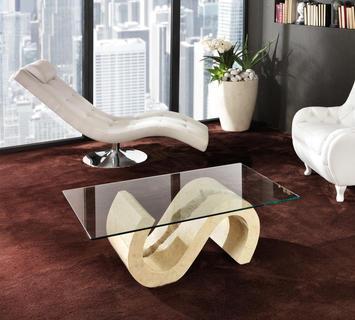 Duzzle tavolinetto stones flexus pietra bianca e vetro salotto(2)