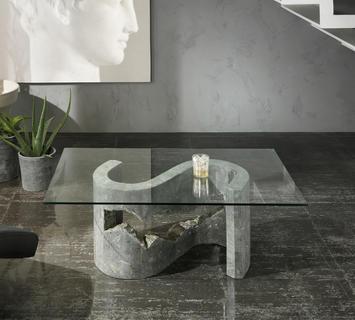 Duzzle tavolino stones flexus vetro e pietra grigia salotto(2)