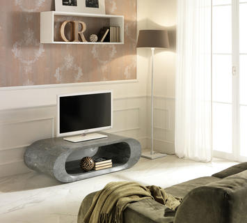 Duzzle porta tv tavolinetto stones in pietra grigia