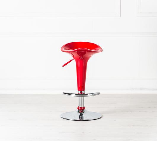 Duzzle sedia sgabello rosso stones fronte