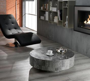 Duzzle tavolino round1 stones rotondo pietra grigia