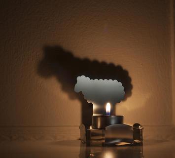 Duzzle portalumini natalizio in acciaio dolly shadow wecan005