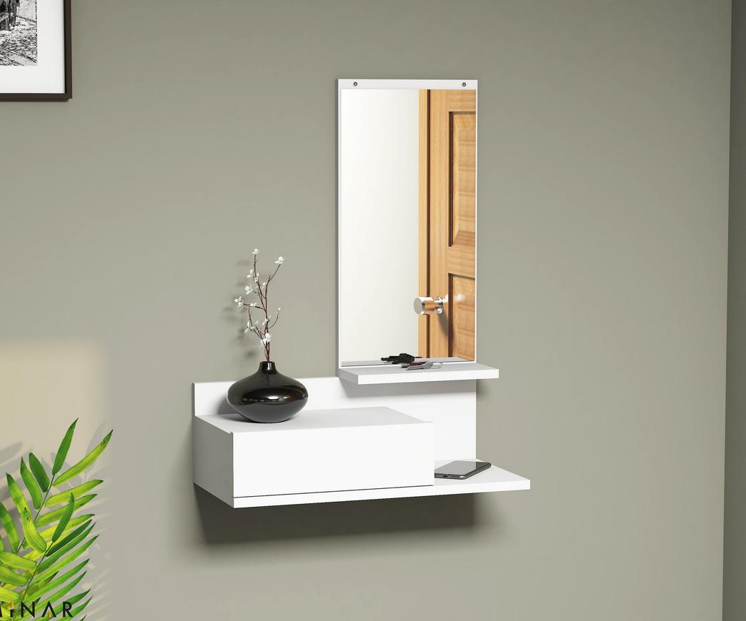 Mobile Ingresso Sospeso Mode Bianco con Specchio