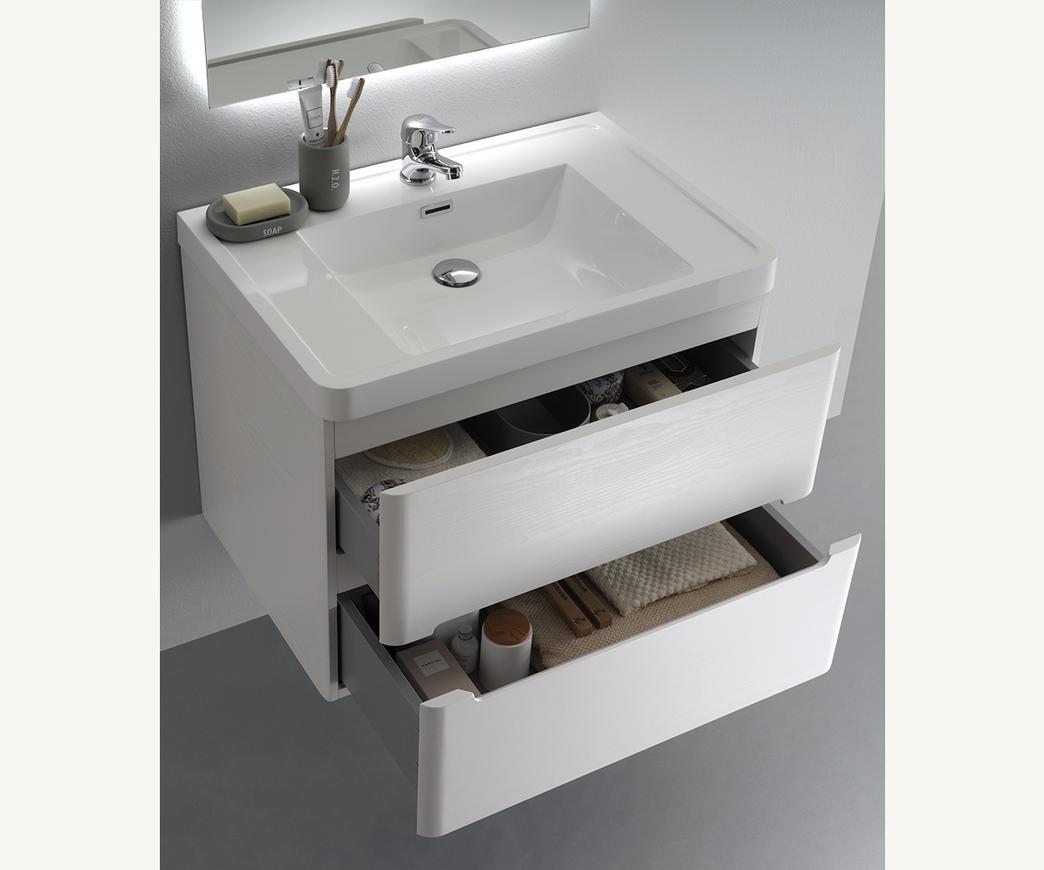 Mobile Bagno Da 70 Cm.Mobile Bagno Sospeso River 70 Cm Bianco Con Specchio Led Retro