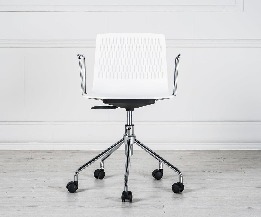 poltroncina da ufficio elliot con rotelle bianca duzzle