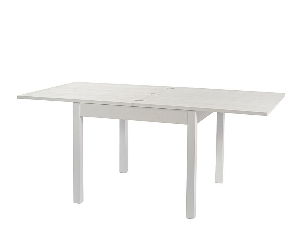 Tavolo da pranzo Icarus 90x90 frassino bianco allungabile fino a 180 cm