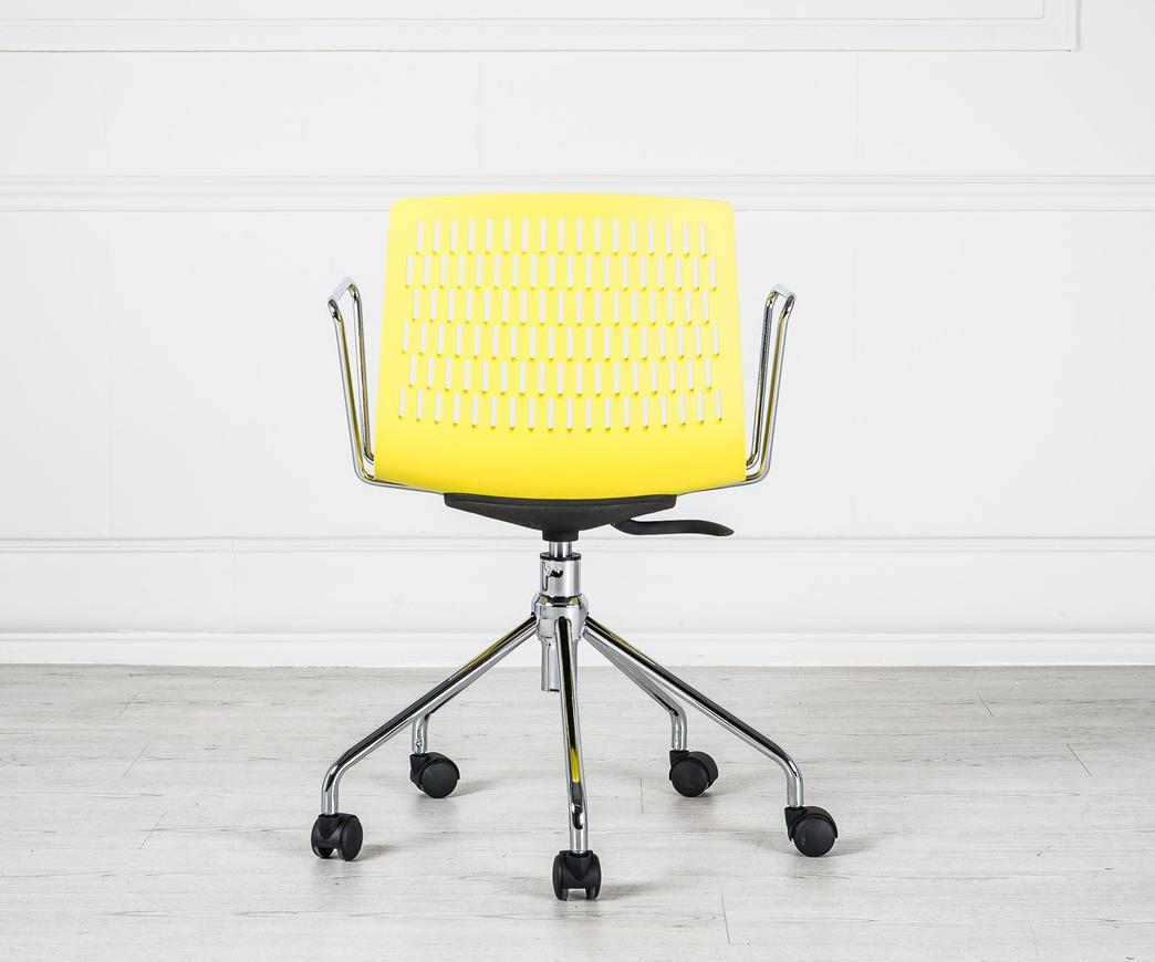 da Poltroncina Elliot con rotelle ufficio gialla 8wmvNn0