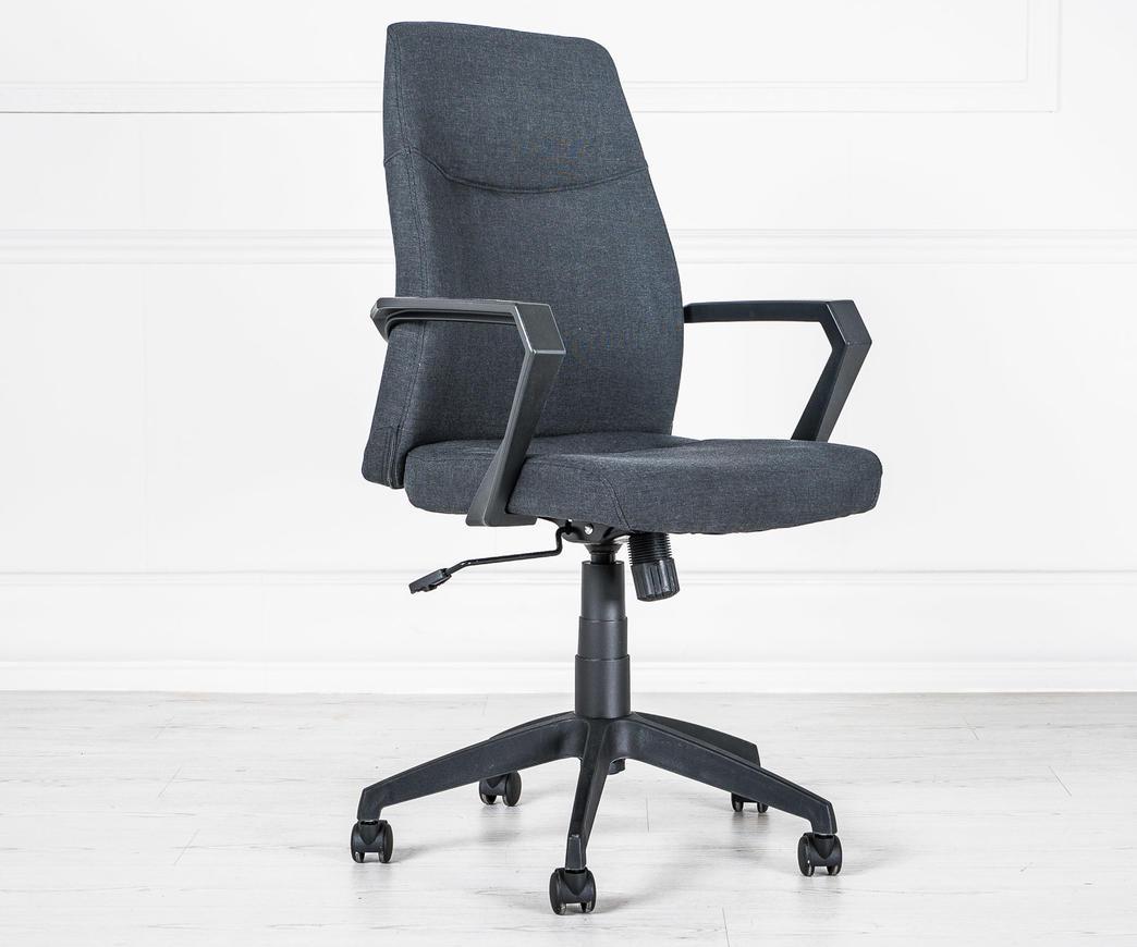 Poltrona da ufficio edwin nera con rotelle om 181 n di for Sedia ufficio rotelle