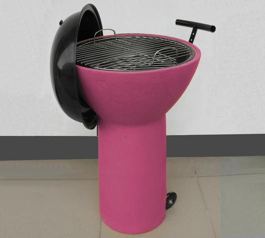 Duzzle barbecue rotelle rosa