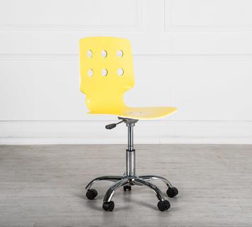 Sedia con rotelle bianca e gialla duzzle for Sedia ufficio gialla