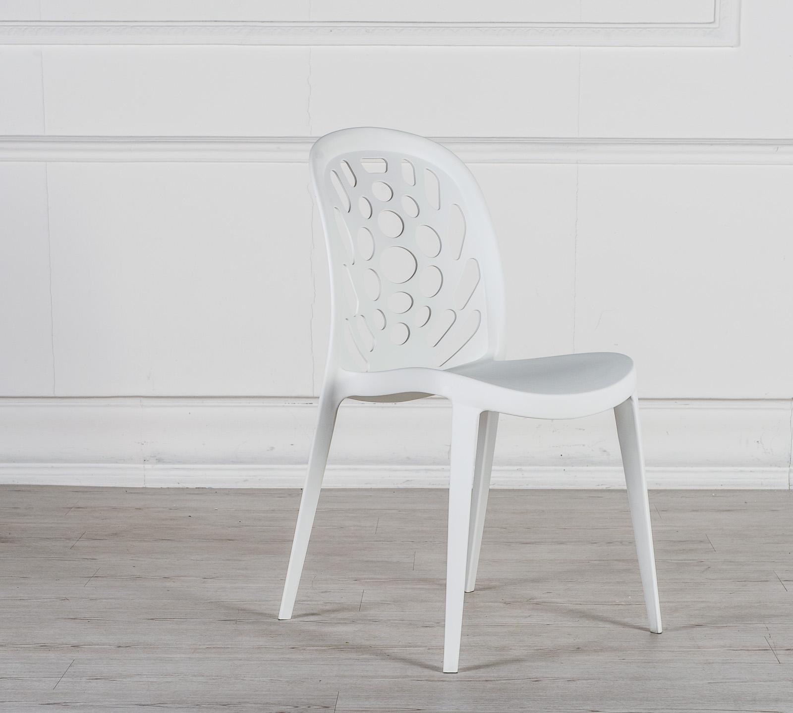 Sedia holes bianca om 103 b duzzle for Sedia plastica bianca