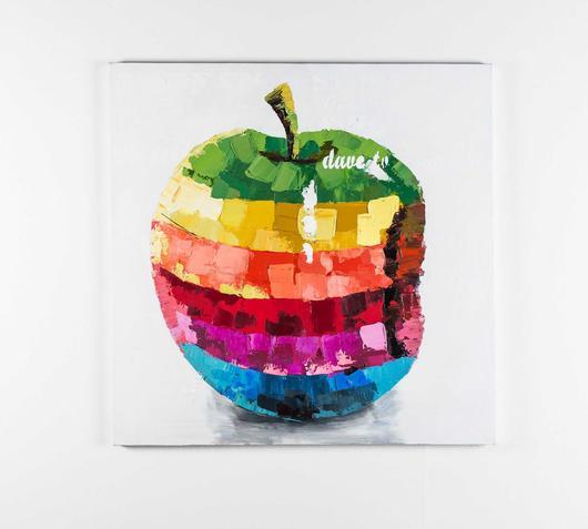 Quadro olio tela mela stones