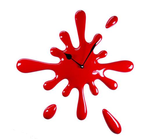 Orologio macchia rosso