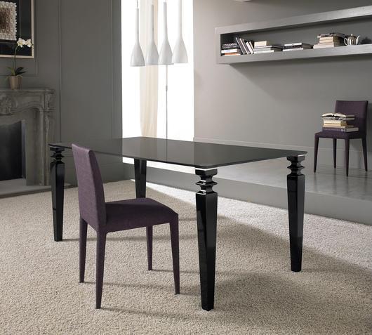 Duzzle tavolo glamour stones nero   copia
