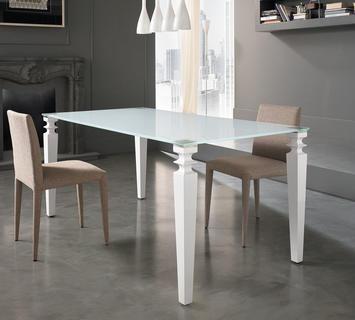Duzzle tavolo glamour bianco stones