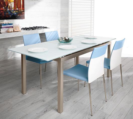 Duzzle tavolo dot stones extra white aperto