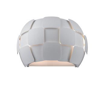 Duzzle lampada parete sole policarbonato bianca