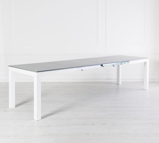 Duzzle tavolo allungabile legno frassino grigio stones retro