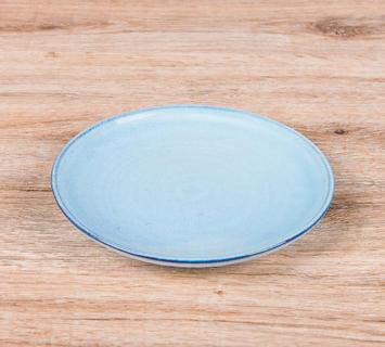 Duzzle piatto breakfast terracotta fatto a mano present time celeste