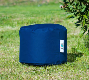 Duzzle pouf imbottito impermeabile blu navy